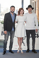 Antonio Velazquez, Ana Maria Polvorosa and Luis Fernandez poses during `Mi gran noche´ film presentation in Madrid, Spain. February 20, 2015. (ALTERPHOTOS/Victor Blanco) /NORTEphoto.com