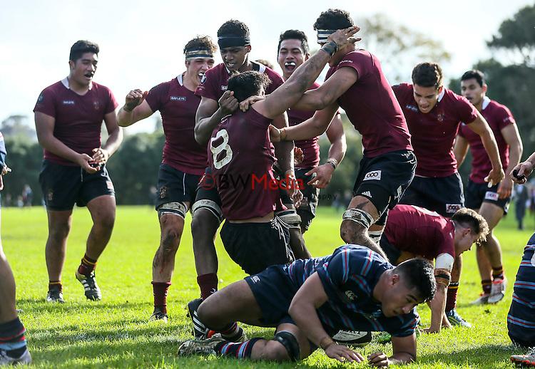 1st XV rugby union, Sacred Heart v Kings College, Sacred won 23 - 22. Sacred Heart College, Auckland, New Zealand. Saturday 11 June 2016. Photo: Simon Watts/www.bwmedia.co.nz