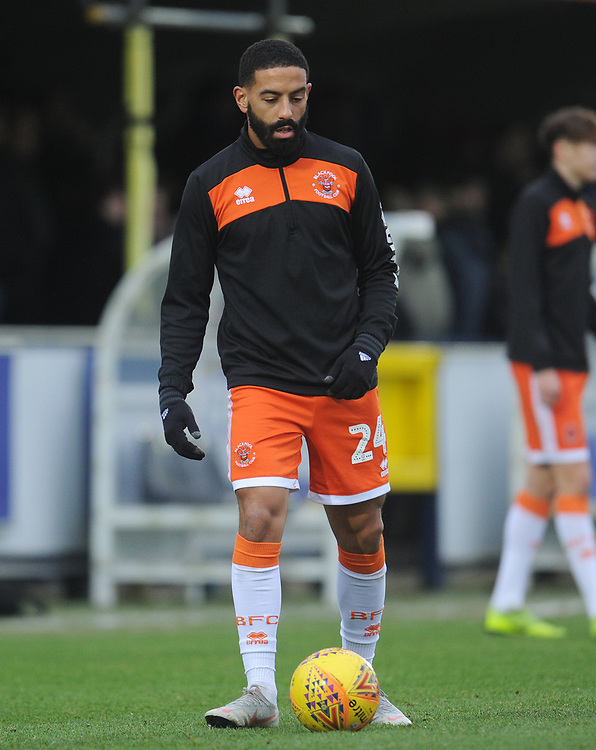 Blackpool's Liam Feeney during the pre-match warm-up <br /> <br /> Photographer Kevin Barnes/CameraSport<br /> <br /> The EFL Sky Bet League One - AFC Wimbledon v Blackpool - Saturday 29th December 2018 - Kingsmeadow Stadium - London<br /> <br /> World Copyright © 2018 CameraSport. All rights reserved. 43 Linden Ave. Countesthorpe. Leicester. England. LE8 5PG - Tel: +44 (0) 116 277 4147 - admin@camerasport.com - www.camerasport.com