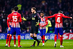 Goalkeeper Jan Oblak of Atletico de Madrid (C) gestures during the La Liga 2018-19 match between Atletico Madrid and FC Barcelona at Wanda Metropolitano on November 24 2018 in Madrid, Spain. Photo by Diego Souto / Power Sport Images