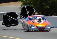 Jul. 18, 2010; Sonoma, CA, USA; NHRA pro stock driver Shane Gray during the Fram Autolite Nationals at Infineon Raceway. Mandatory Credit: Mark J. Rebilas-