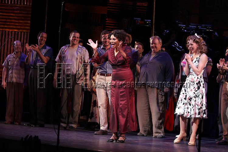 Leslie Uggams with Stephen Wallem, Will Chase, Laura Osnes  & Company.during the New York City Center Encores! 'Pipe Dream' Opening Night Curtain Call in New York City on 3/28/2012.