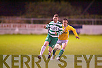 Killarney Celtic's Alan Nagle and Lisselton's Joe Sheehy.   Copyright Kerry's Eye 2008
