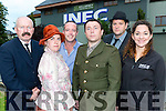 The cast of 1916 dramatic critically acclaimed  play 'Patrick' who are returning for one last show in the INEC on the 27th October l-r: Jimmy Kelly, Rosie Healy, Aidan O'Connor, Brian Hickey, Derry Healy and Maureen Curnane