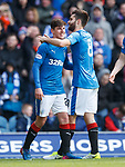 Jon Toral celebrates his goal with provider Emerson Hyndman