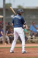 Seattle Mariners first baseman Nick Zammarelli (13) during a Minor League Spring Training game against the San Diego Padres at Peoria Sports Complex on March 24, 2018 in Peoria, Arizona. (Zachary Lucy/Four Seam Images)