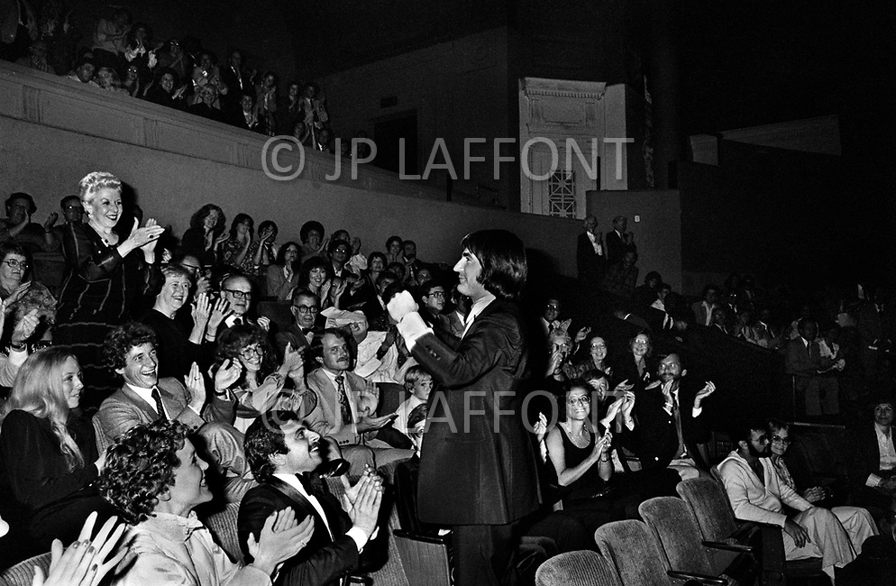 Cleveland, Ohio, September 28th, 1979 - French Singer Serge Lama performs in Cleveland