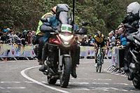 Floris De Tier (BEL/Lotto NL - Jumbo) up the 3th and last passage of the Cauberg. <br /> <br /> <br /> 53th Amstel Gold Race (1.UWT)<br /> 1 Day Race: Maastricht &gt; Berg en Terblijt (263km)