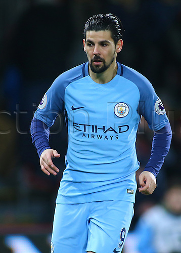 February 13th 2017, Vitality Stadium, Bournemouth, Dorset, England; EPL Premier league football, Bournemouth versus Manchester City; Nolito of Manchester City moves into position during a Manchester City attack