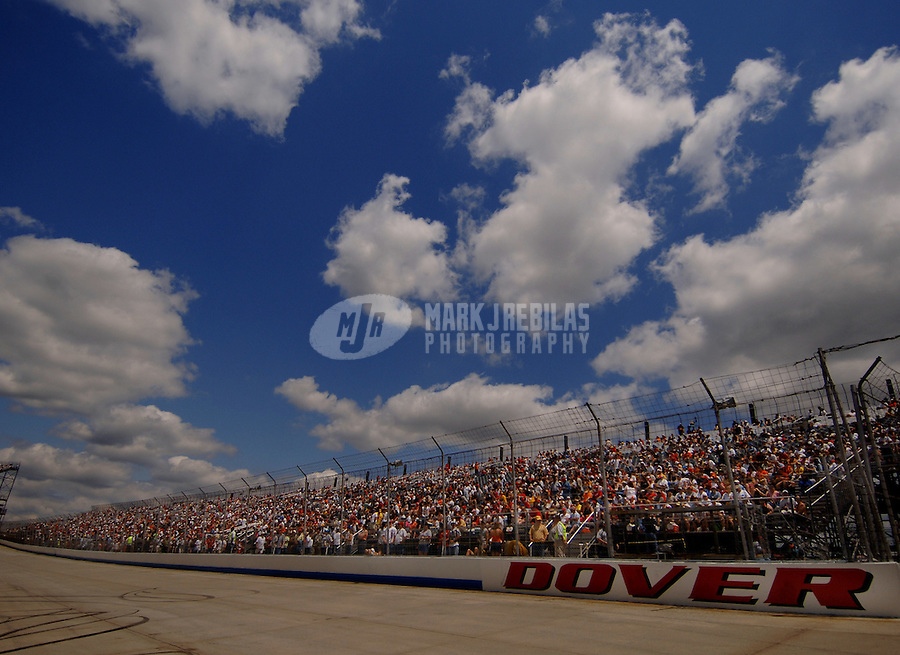 June 4, 2006; Dover, DE, USA; Overview of the main grandstand prior to the Nascar Nextel Cup Neighborhood Excellence 400 at Dover International Speedway. Mandatory Credit: Mark J. Rebilas..