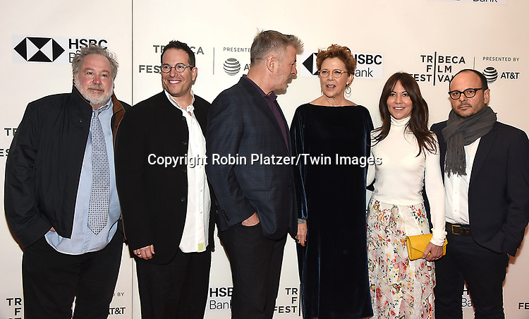 "Thomas Hulce,Michael  Mayer, Alec Baldwin, Annette Bening, Leslie Urdang and Stepehen Karam attend ""The Seagull"" Screening at the Tribecca Film Festival at BMCC on April 21, 2018 in New York City, New York, USA.<br /> <br /> photo by Robin Platzer/Twin Images<br />  <br /> phone number 212-935-0770"