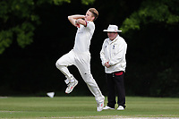 B Allison in bowling action for Brentwood during Brentwood CC vs Wanstead and Snaresbrook CC (batting), Shepherd Neame Essex League Cricket at The Old County Ground on 11th May 2019