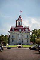 The Chase County Courthouse in Cottonwood Falls Kansas was completed in 1873 and is the oldest county courthouse still in use in Kansa.