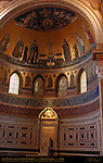 Apse Mosaics Vault 4th-5th c Christ and 9 Seraphim Center 6th c Crux Gammata with Mary and Saints lower 13th c Apostles around windows Jacopo da Camerino Jacopo Torriti St John in Lateran Rome