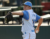 July 7, 2008: RHP Jaye Chapman (15) of the Myrtle Beach Pelicans, Class A affiliate of the Atlanta Braves, in a game against the Wilmington Blue Rocks at BB&T Coastal Field in Myrtle Beach, S.C. Photo by:  Tom Priddy/Four Seam Image