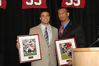 14 January 2007: Trevor Hooper and Brandon Harrison at the annual football banquet at McCaw Hall in Stanford, CA.