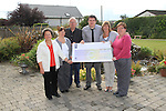 Lorraine Clarke, Ann Finger, Patrick Clarke, Philip Clarke, Ann Tracey and Sandra Clarke as the cheque, valued at EUR16,536.42, is handed over to the Gary Kelly Cancer Support Centre..Picture: Shane Maguire / www.newsfile.ie.