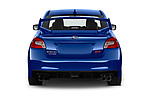 Straight rear view of a 2018 Subaru WRX STI Sport Premium 4 Door Sedan stock images