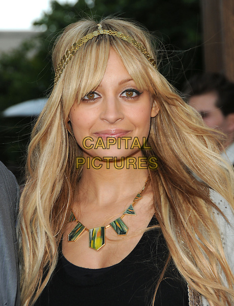 NICOLE RICHIE .House of Harlow 1960 & Clandenstine Industries Switch Boutique Runway Show held at Boulevard 3, Hollywood, California, USA..June 4th, 2009.headshot portrait headband gold black top jacket silver grey gray green necklace .CAP/DVS.©Debbie VanStory/Capital Pictures.
