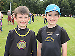 Dunleer AC runners Sean McEvoy and Patrick Farrell who took part in Ardee sports day. Photo:Colin Bell/pressphotos.ie