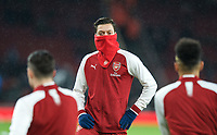 Mesut Özil of arsenal pre match during the Premier League match between Arsenal and Everton at the Emirates Stadium, London, England on 3 February 2018. Photo by Andrew Aleksiejczuk / PRiME Media Images.