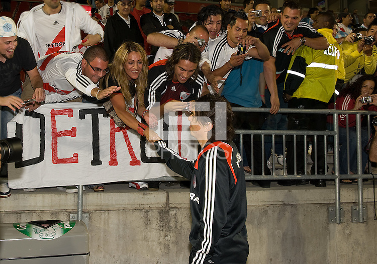 18 July 2009: Marcello Gallardo, former DC United midfielder, meets with fans at the conclusion  of International friendly between Toronto FC and Argentina's River Plate at BMO Field..The game ended in a 0-0 tie and River Plate  won 4-3 in penalty kicks..