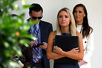 White House Press Secretary Kayleigh McEnany listens to United States President Donald J. Trump's remarks before signing H.R. 7010 - PPP Flexibility Act of 2020 in the Rose Garden of the White House in Washington, DC on June 5, 2020. <br /> Credit: Yuri Gripas / Pool via CNP/AdMedia