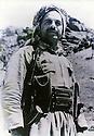 Iraq 1964.Kemal Mufti, chief of peshmergas, in Qara Dag.Irak 1964.Portrait de Kemal Mufti, chef de peshmergas, dans le Qara Dag