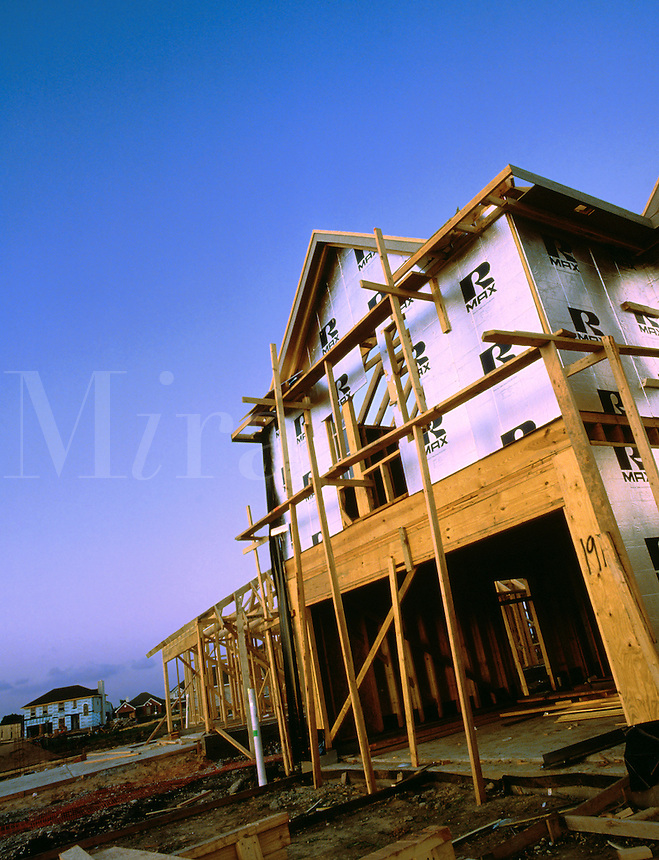 New home construction in upper income suburb. Houston Texas.