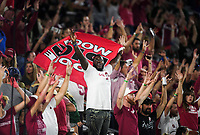 NWA Democrat-Gazette/CHARLIE KAIJO Arkansas Razorbacks fans cheer during the third quarter of a football game, Saturday, September 8, 2018 at Colorado State University in Fort Collins, Colo.