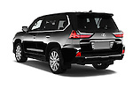 Car pictures of rear three quarter view of 2018 Lexus LX 570 5 Door SUV Angular Rear