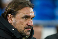 Norwich City head coach Daniel Farke ahead of the Sky Bet Championship match between Cardiff City and Norwich City at the Cardiff City Stadium, Cardiff, Wales on 1 December 2017. Photo by Mark  Hawkins / PRiME Media Images.