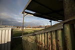 The derelict former home of General Chemicals FC, whose pitch was adjacent to Runcorn Town FC, pictured before the Boxing Day derby match between Runcorn Town and visitors Runcorn Linnets at the Pavilions, Runcorn, in a top-of the table North West Counties League premier division match. Runcorn Linnets won 1-0 and overtook their neighbours at the top of the league in a game watched by 803 spectators. Runcorn Linnets were a successor club to Runcorn FC, one of England foremost non-League clubs of the 1970s and 1980s.
