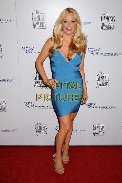 CHARLOTTE ROSS .24th Annual Genesis Awards - Arrivals held at the Beverly Hilton Hotel, Beverly Hills, California, USA, 20th March 2010..full length blue dress bandage beige sandals hand on hip body con .CAP/ADM/BP.©Byron Purvis/AdMedia/Capital Pictures.