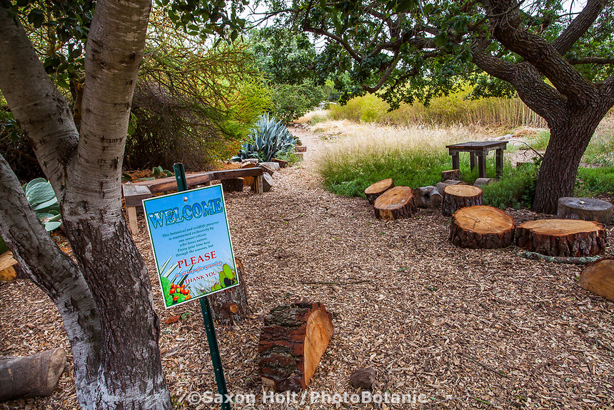 Welcome to Judy Adler no summer water drought tolerant sustainable demonstration garden, Walnut Creek, California