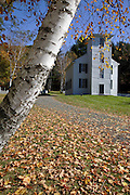 Trinity Anglican Church during the autumn months. Located in Cornish, New Hampshire  USA  This church is listed on the National Register of Historic Places..