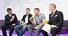 Frank Warren Boxing Promoter and BT Sport Press Conference at BT Tower London Great Britain <br /> <br /> 23rd January 2017 <br /> <br /> Frank Warren introduces Boxers who will be taking part in tournaments during 2017. <br /> <br /> Liam Smith (2nd left) is a British professional boxer. He held the WBO light-middleweight title from 2015 to 2016, having previously held the Commonwealth light-middleweight title from 2012 to 2013, and the British light-middleweight title from 2013 to 2015.<br /> <br /> Terry Flanagan (2nd right) is a British professional boxer. He has held the WBO lightweight title since July 2015, becoming the first Englishman to win a world title as a lightweight.<br /> <br /> <br /> Photograph by Elliott Franks <br /> Image licensed to Elliott Franks Photography Services