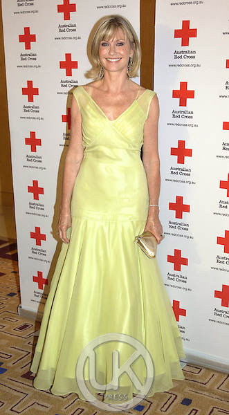 Olivia Newton-John attends a Red Cross 90th Anniversary Gala Event at the Westin Hotel in Sydney, during their 2-week visit to Australia..