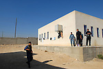 Palestinian policemen near their barracks at the police academy in the West Bank town of Jericho.
