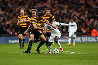Pictured: Nathan Dyer (R). Sunday 24 February 2013<br /> Re: Capital One Cup football final, Swansea v Bradford at the Wembley Stadium in London.