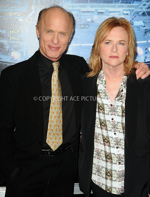 WWW.ACEPIXS.COM . . . . .  ....January 23 2012, LA....Ed Harris and Amy Madigan arriving at the premiere of  'Man On A Ledge' at Grauman's Chinese Theatre on January 23, 2012 in Hollywood, California.....Please byline: PETER WEST - ACE PICTURES.... *** ***..Ace Pictures, Inc:  ..Philip Vaughan (212) 243-8787 or (646) 679 0430..e-mail: info@acepixs.com..web: http://www.acepixs.com