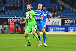 01.12.2018, wirsol Rhein-Neckar-Arena, Sinsheim, GER, 1 FBL, TSG 1899 Hoffenheim vs FC Schalke 04, <br /> <br /> DFL REGULATIONS PROHIBIT ANY USE OF PHOTOGRAPHS AS IMAGE SEQUENCES AND/OR QUASI-VIDEO.<br /> <br /> im Bild: Guido Burgstaller (FC Schalke 04 #19) gegen Kevin Vogt (TSG Hoffenheim #22)<br /> <br /> Foto © nordphoto / Fabisch