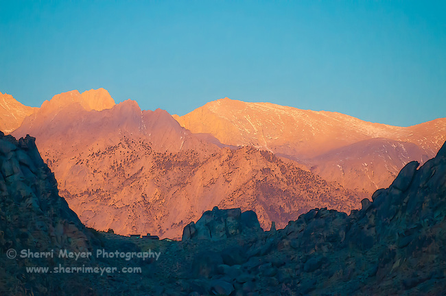 Early morning light on the Eastern Sierra, Lone Pine, California.