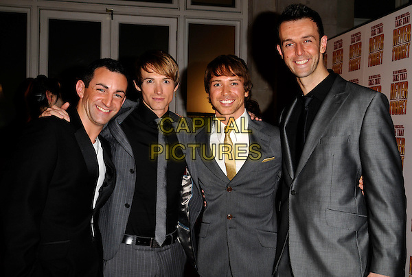 "THE ""TAKE THAT"" THEATRE CAST.The ""Never Forget"" gala night afterparty, 1 The piazza, Covent garden, London, England..May 22nd, 2008.after party half length black grey gray suit .CAP/CAN.©Can Nguyen/Capital Pictures."