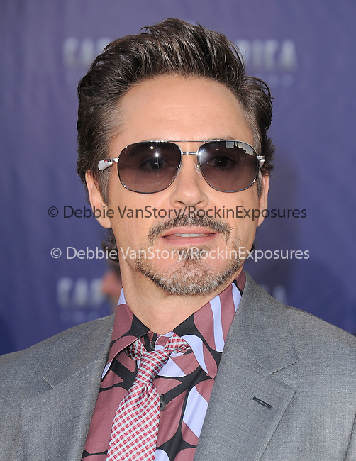 """Robert Downey Jr. at The Marvel Studios Premiere of """" Captain America : The First Avenger """"  held at The El Capitan Theatre in Hollywood, California on July 19,2011                                                                               © 2011 DVS/Hollywood Press Agency"""
