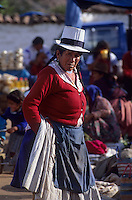 Amérique/Amérique du Sud/Pérou/Pisac : Portrait sur le marché