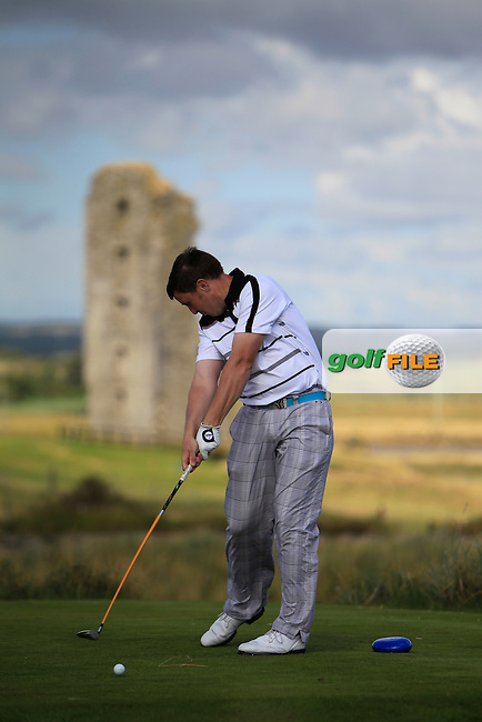 Paul O'Hara (Kilkenny) on the 13th tee during the South of Ireland Amateur Open Championship 4th Round at Lahinch Golf Club  29th July 2013 <br /> Picture:  Thos Caffrey / www.golffile.ie