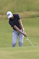 Daniel Berger (USA) chips onto the 3rd green during Friday's Round 2 of the 117th U.S. Open Championship 2017 held at Erin Hills, Erin, Wisconsin, USA. 16th June 2017.<br /> Picture: Eoin Clarke | Golffile<br /> <br /> <br /> All photos usage must carry mandatory copyright credit (&copy; Golffile | Eoin Clarke)