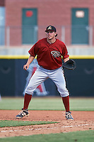 Arizona Diamondbacks Austin Byler (47) during an instructional league game against the Los Angeles Angels / Chicago Cubs co-op team on October 9, 2015 at the Tempe Diablo Stadium Complex in Tempe, Arizona.  (Mike Janes/Four Seam Images)