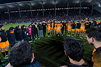The Jaguares huddle after the 2019 Super Rugby final between the Crusaders and Jaguares at Orangetheory Stadium in Christchurch, New Zealand on Saturday, 6 July 2019. Photo: Dave Lintott / lintottphoto.co.nz